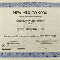 Los Alamos National Labs & ISO Certification